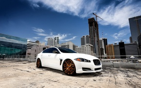 Picture Jaguar, wheels, sky, Forgiato