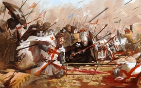 Picture battle, the battle, The Templars, The Hospitallers