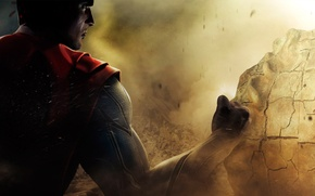 Picture the game, superman, game, ps3, xbox 360, super hero, injustice gods among us