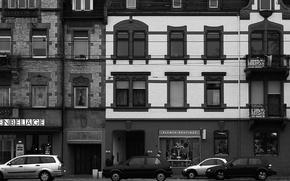 Wallpaper black and white, Machine, Home