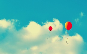 Picture the sky, clouds, holiday, a balloon