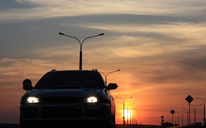 "Wallpaper sunset, Subaru, Impreza, WRX, ""Scooby"""