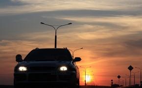 """Picture sunset, Subaru, Impreza, WRX, """"Scooby"""""""