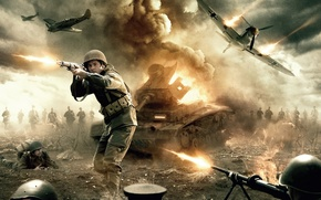 Picture cinema, explosion, fire, flame, gun, soldier, sky, weapon, war, dust, man, army, fight, movie, american, …