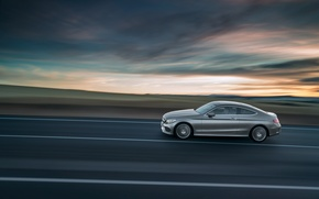 Wallpaper Mercedes-Benz, Mercedes, AMG, Coupe, C-Class, 2015, C205