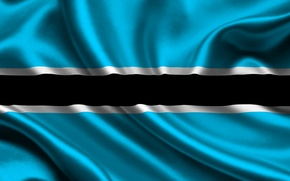 Picture The Republic Of Botswana, Flag, Republic of Botswana, Blue, Texture, Flag, Botswana, Strip, White, Botswana, …