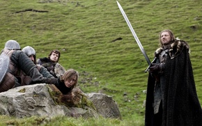 Picture grass, ice, sword, penalty, Game of Thrones, game of thrones, sean bean, Sean bean, stark