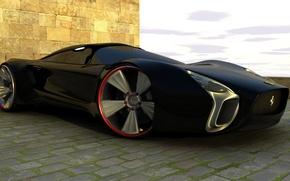 Picture design, black, color, drives, wheel
