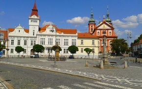 Picture summer, cathedral, old, town, church, Czech Republic, Stara Boleslav