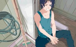 Picture anime, art, guy, Ao no Exorcist, Blue exorcist, Rin Okumura