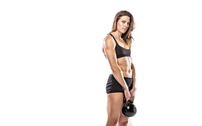 Picture model, look, pose, fitness, Russian dumbbell