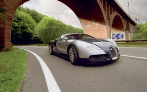 Wallpaper Bugatti, Street, Bridge