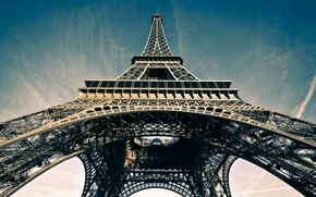 Picture the sky, France, Paris, symbol, Eiffel tower, Paris, architecture, attraction, France, Eiffel Tower, La tour …