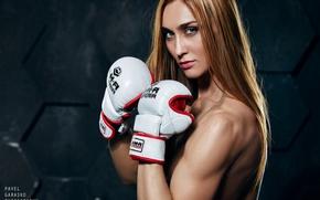 Wallpaper look, Boxing, gloves, Pavel Garasko, Paul Garas'ko, Tanya Yeremina