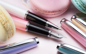 Picture pen, handle, the office, macaroon