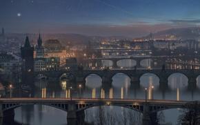 Picture bridge, Prague, Czech Republic