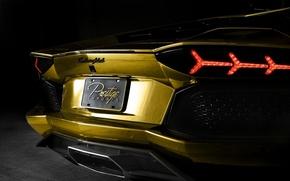 Picture Lamborghini, Lambo, gold, luxury, luxury, Lamborghini Aventador, Aventador, chrome, Prestige Imports Miami