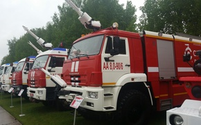 Picture KAMAZ, MOE, Exhibition, Fire fighting equipment