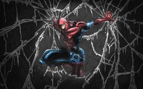 Wallpaper the darkness, peter parker, web, spider man