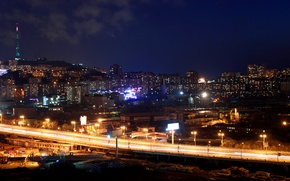 Picture night, Vladivostok, overpass