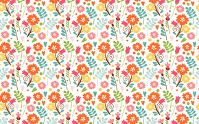 Picture flowers, pattern, spring