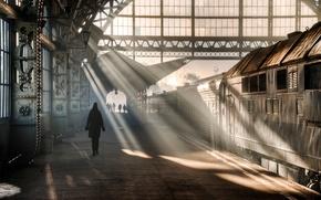 Picture train, Saint Petersburg, Vitebsky railway station