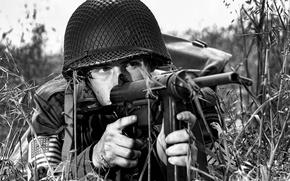 Picture weapons, mesh, soldiers, helmet, the gun