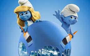 Picture world, cinema, girl, Sony, sea, design, hat, blue, water, clouds, man, movie, planet, hands, Smurfs, …