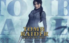 Picture girl, fog, guns, lara croft, tomb raider, Tomb Raider: Lost in the Mist