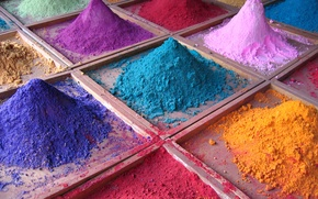 Picture sand, paint, color, palette, a handful
