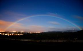 Wallpaper lights, rainbow, the evening