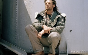 Wallpaper hugh jackman, male, jacket, shoes, Hugh Jackman, actor, hair