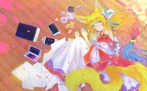 Picture girl, anime, art, Miko, No game No life