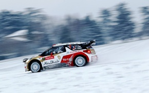 Picture snow, rally, wrc, citroen, snow, Citroen, ds3, DS3, loeb