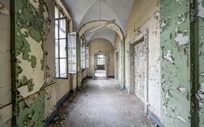 Picture Windows, interior, corridor
