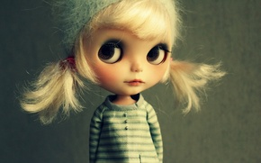 Picture eyes, look, face, hat, toy, doll, blonde, jacket, looks, tails