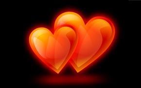 Picture background, holiday, heart, pair, Valentine's Day, unison
