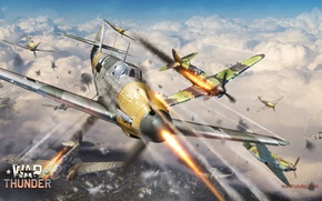 Picture clouds, the plane, plane, LaGG-3, simulator, MMO, Mac OS, War Thunder, Gaijin Entertainment, Dagor Engine, …