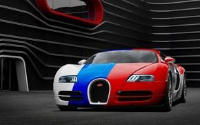Picture Bugatti, Veyron, Bugatti, front, Veyron, Aksyonov Nikita Andreevich, three color
