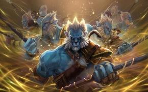 Picture dota 2, double, clon, worrrior, Phantom lancer, Azwraith
