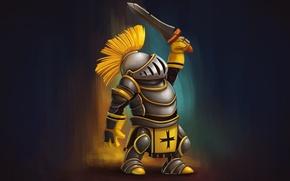 Picture warrior, sword, armor