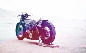Picture motorcycle, custom, Harley-Davidson, panhead