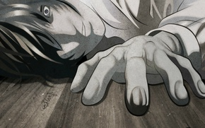 Picture hand, death note, Death note, madness, Kira, Yagami Light