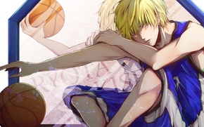 Wallpaper movement, the ball, form, guy, Kuroko From Basket, Kuroko's basketball, Kise Ryouta