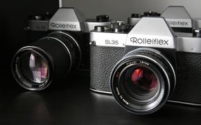 Picture macro, camera, Rollei SL35