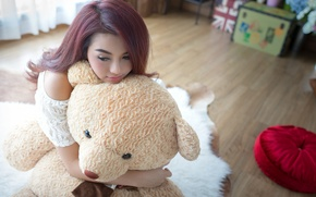 Picture face, mood, hair, toy, bear