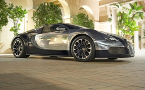 Picture Bugatti, Grand, Veyron, Sport, Blue, Nuit