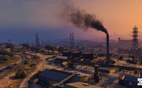 Picture plant, the evening, Grand Theft Auto V, Los Santos, gta 5