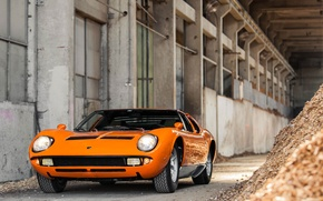 Picture Lamborghini, Orange, Miura