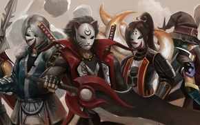 Picture sword, mask, ninja, killer, ninja saga